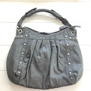 ALDO Gray Hobo Purse with Silver Details